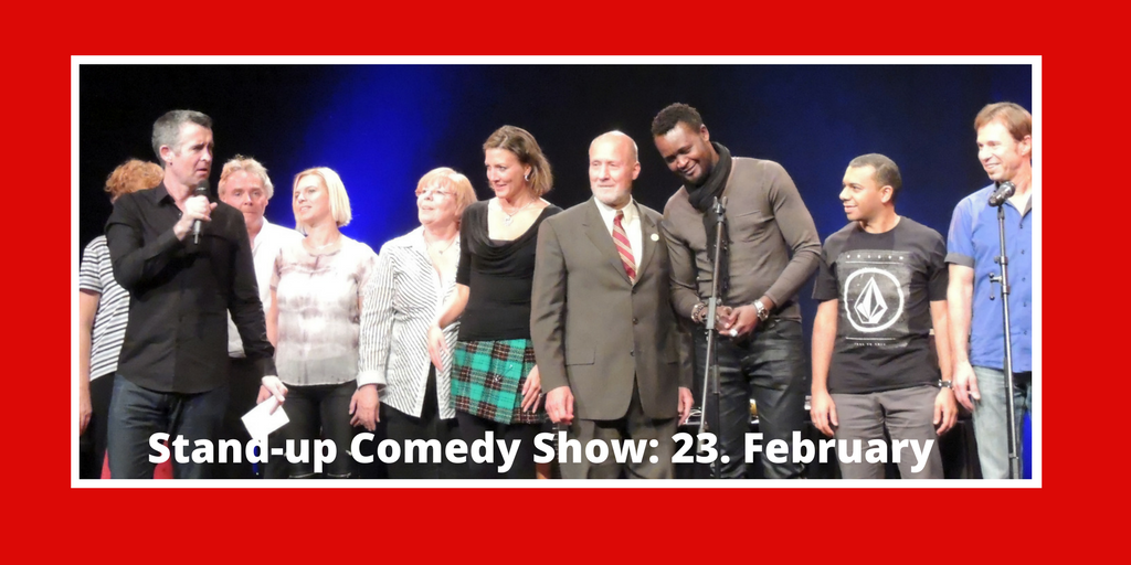 Marketing Exhibition Stand Up Comedy : Stand up comedy show february club munich